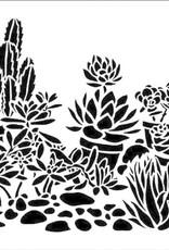 The Crafter's Workshop 6 X 6 Stencil Mini Desert Garden
