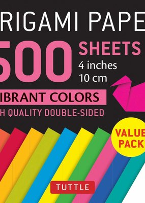 Tuttle Publishing Origami Paper Vibrant Colors 4 Inch 500 Sheets