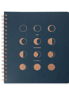 Fringe Undated Monthly Planner Moon Phases