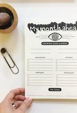 The Rainbow Vision 12 Month Open Eye Date Planner Terra Cotta