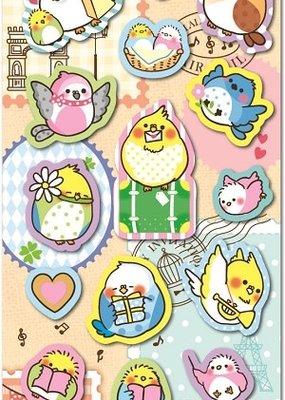 Bird Puffy Sticker