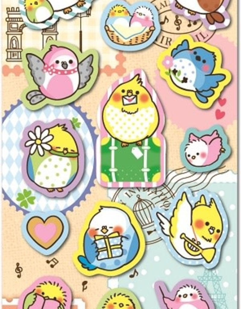 Bird Puffy Sticker