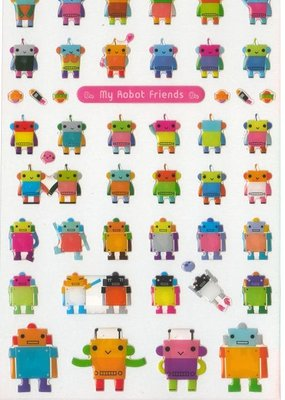 Stickers My Robot Friends Gel