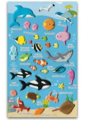 Stickers Puffy Sea Animals
