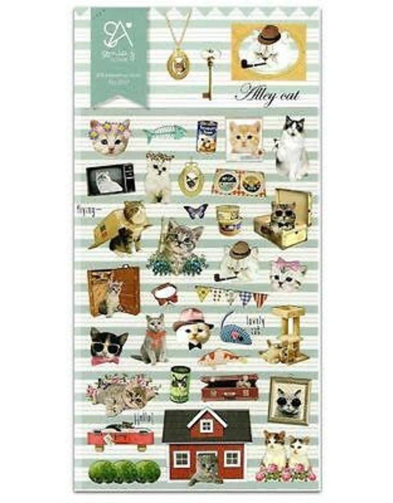 Sticker Alley Cat
