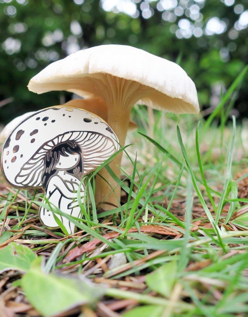 Stasia Burrington Enamel Pin Mushroom Girl