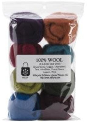 Wistyria Editions Wool Roving The Bouquet Assortment