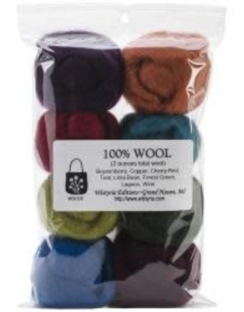 Wistyria Editions Wool Roving Multi Pack The Bouquet