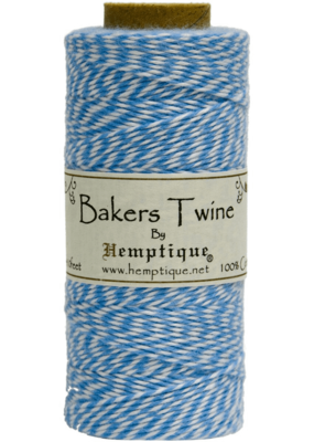 Hemptique Bakers Twine Blue / White