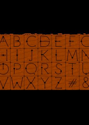 Hero Arts Stamp Set Modern Dot Alphabet