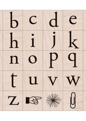 Hero Arts Stamp Alphabet Set Playful Flower Letters