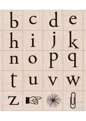 Hero Arts Stamp Alphabet Set Playful Flower Letters