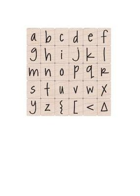 Hero Arts Stamp Alphabet Set Happy Lower Case