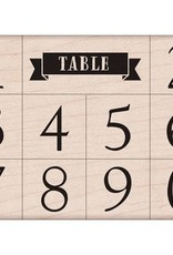 Hero Arts Classic Table Numbers Stamps