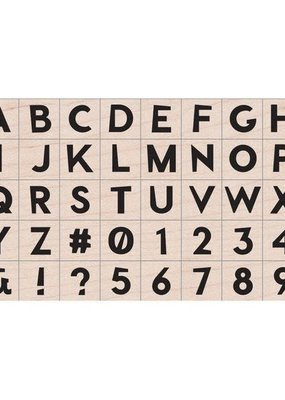 Hero Arts Stamp Modern Upper Case Letters And Numbers Stamp Set