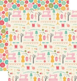 Echo Park Paper Co. 12 X 12 Paper I'd Rather Be Crafting Sew Everything