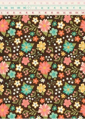 Echo Park Paper Co. 12 X 12 Paper I'd Rather Be Crafting Favorite Floral