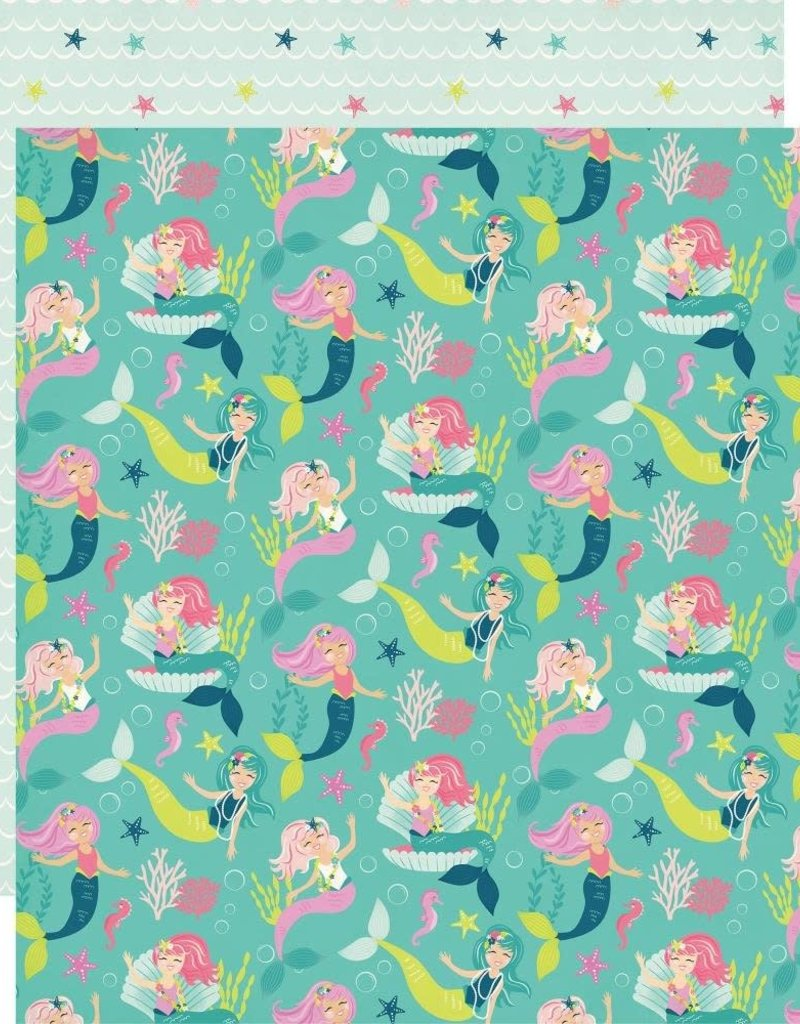 Echo Park Paper Co. 12 x 12 Paper Imagine That Girl Merry Mermaids
