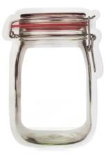 Kikkerland Flip Top Jar Zipper Bag Medium