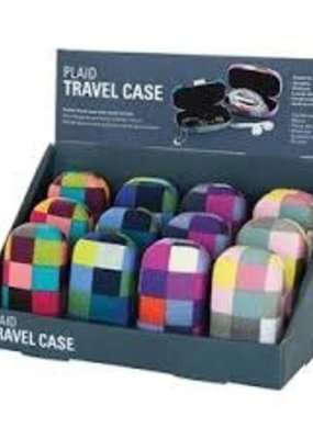 Kikkerland Travel Case Plaid Assorted