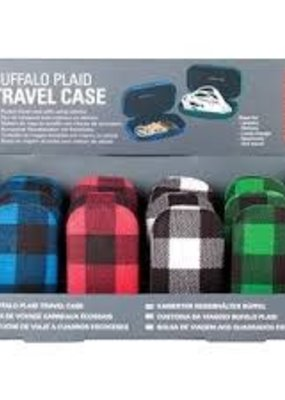 Kikkerland Buffalo Plaid Travel Case