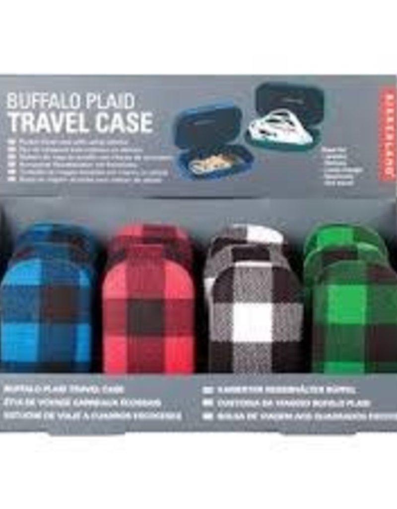 Kikkerland Buffalo Plaid Travel Case