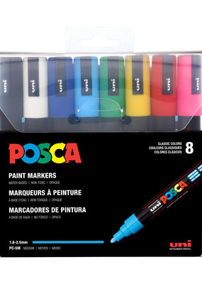 POSCA POSCA Paint Pen 5 M Medium Set 8 Piece