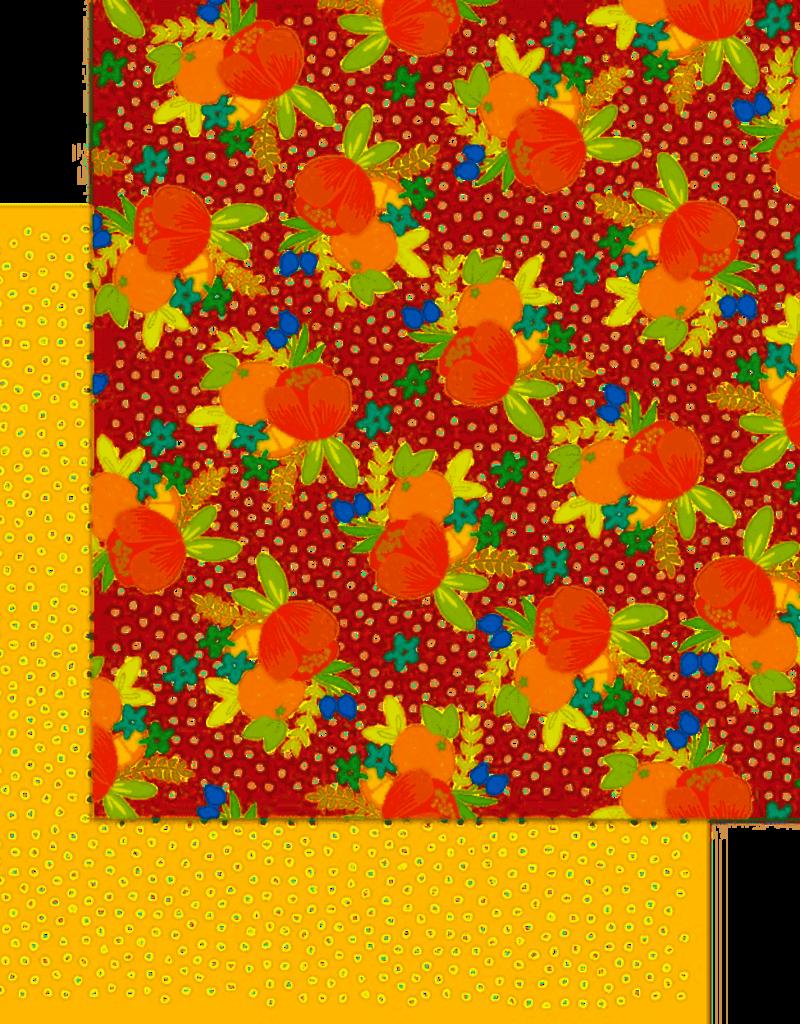 My Mind's Eye 12 X 12 Paper Tutti Frutti Tangerine Dreams
