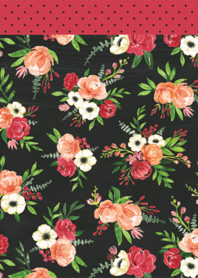Echo Park Paper Co. 12 x 12 Paper Botanical Garden Poppy Petals