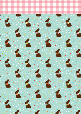 Echo Park Paper Co. 12 X 12 Chocolate Bunnies Paper