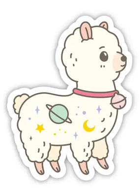 Noristudio Vinyl Sticker Galaxy Alpaca