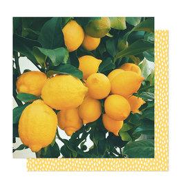 American Crafts 12 x 12 Paper It's All Good Lemon Drop