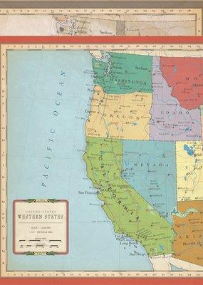 Echo Park Paper Co. 12 X 12 Paper US West Coast Map