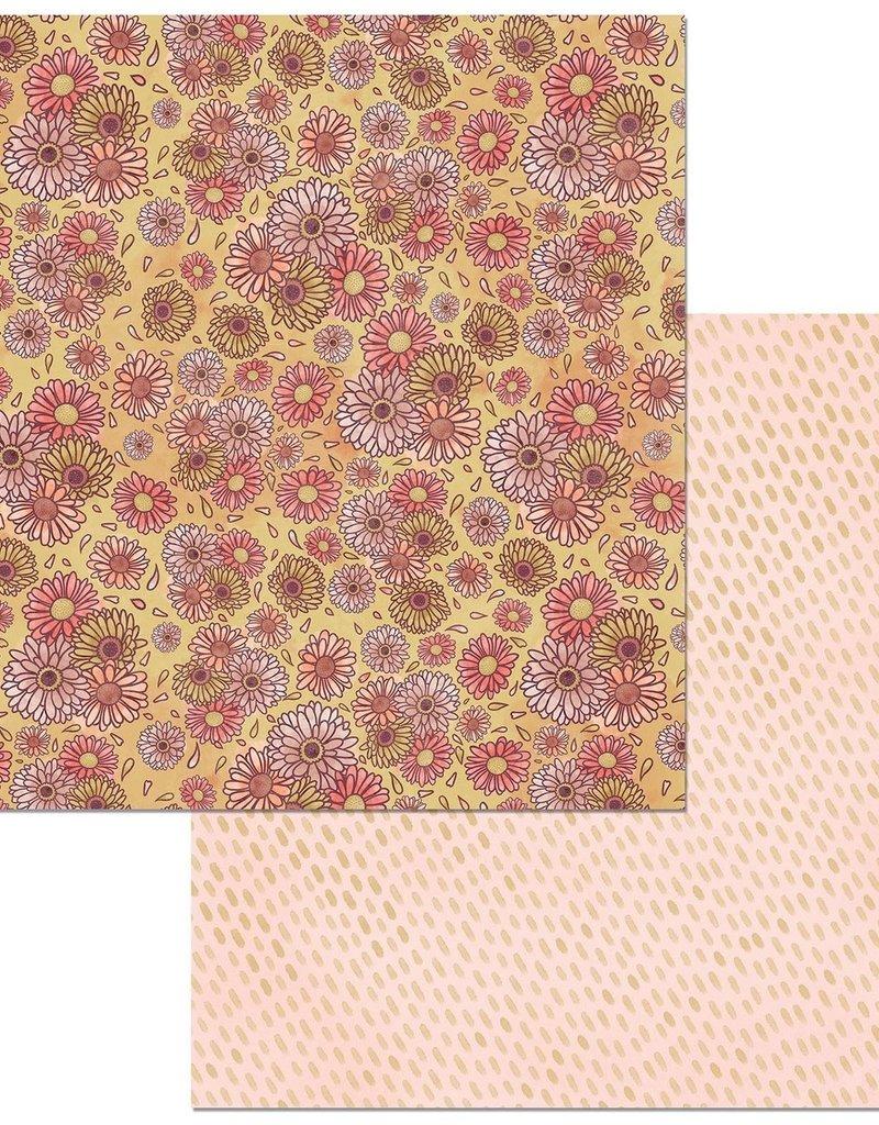BoBunny 12 x 12 Paper  Floral Spice Vibrant
