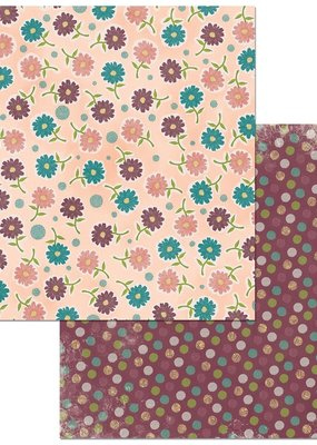 BoBunny 12 x 12 Paper  Floral Spice Wonderful
