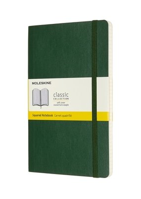 Moleskine Moleskine Classic Soft Cover Squared Large Myrtle Green