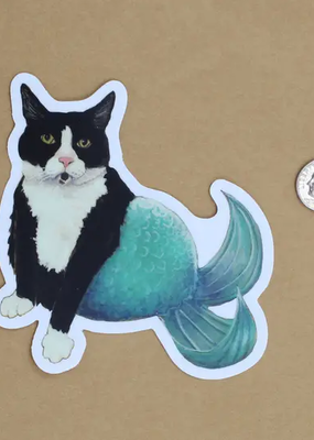 Amy Rose Moore Illustration Sticker Cat Mermaid