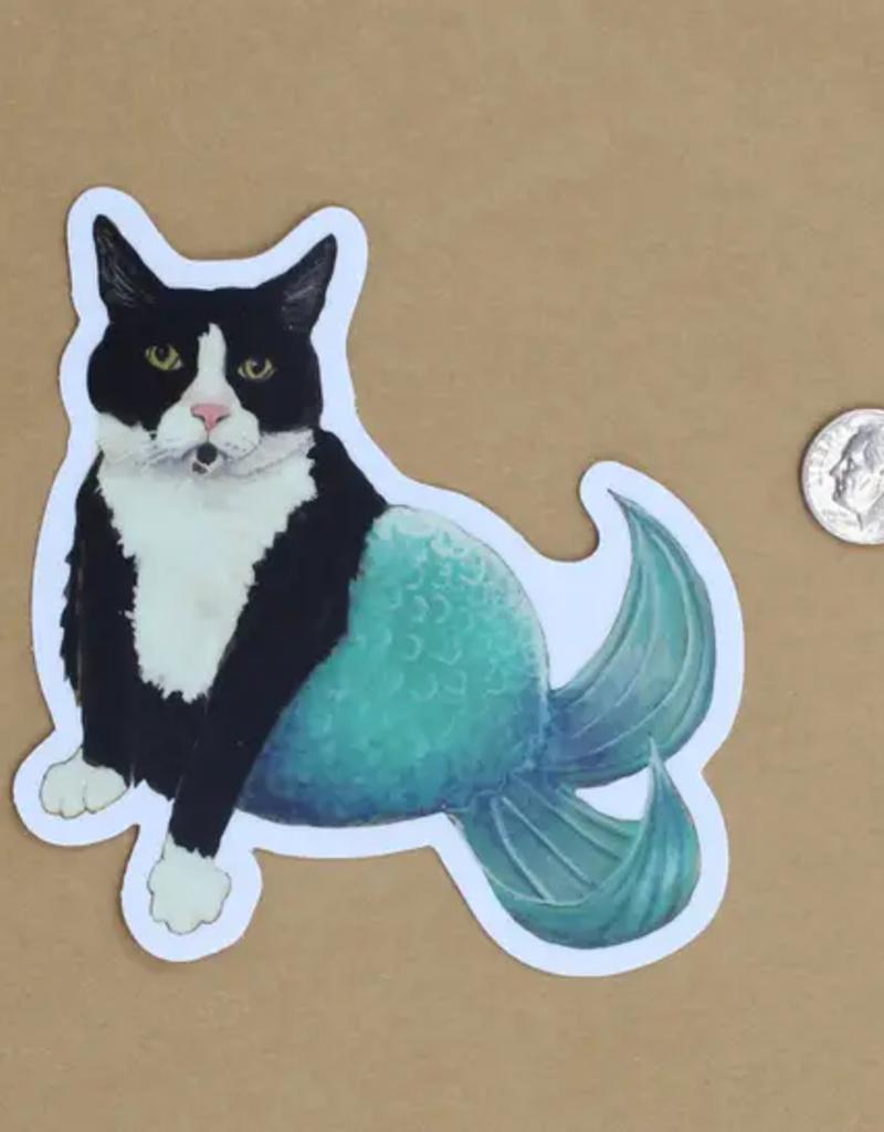 Amy Rose Moore Illustration Sticker Cat Mermaid