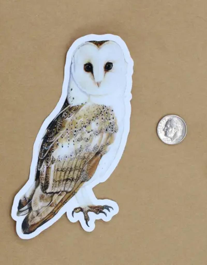 Amy Rose Moore Illustration Sticker Barn Owl