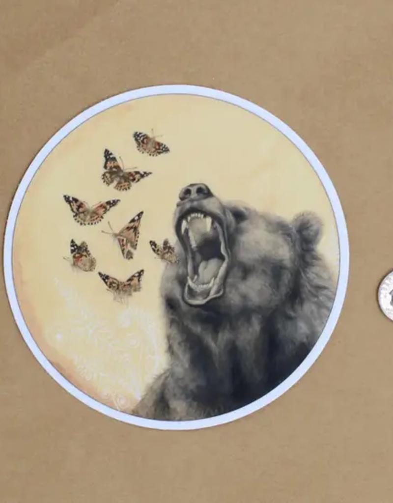 Amy Rose Moore Illustration Sticker Bear Roar