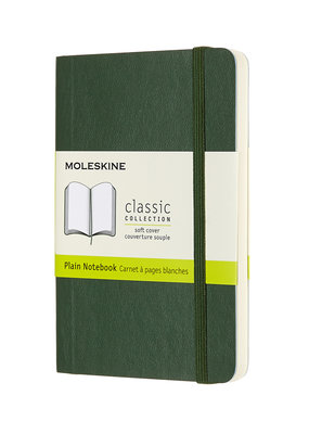 Moleskine Moleskine Classic Soft Cover Plain Pocket Myrtle Green