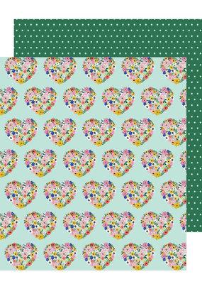 Jen Hadfield 12 x 12 Paper Floral Hearts