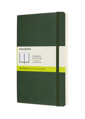 Moleskine Moleskine Classic Soft Cover Plain Large Myrtle Green