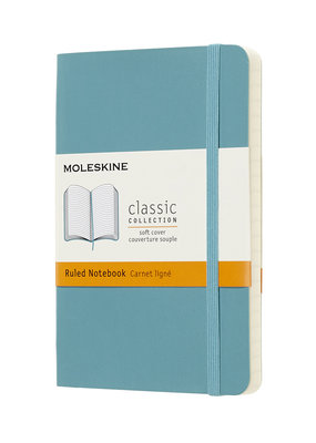 Moleskine Moleskine Classic Soft Cover Ruled Pocket Reef Blue