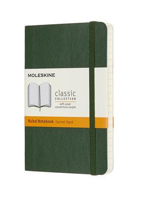 Moleskine Moleskine Classic Soft Cover Ruled Pocket Myrtle Green