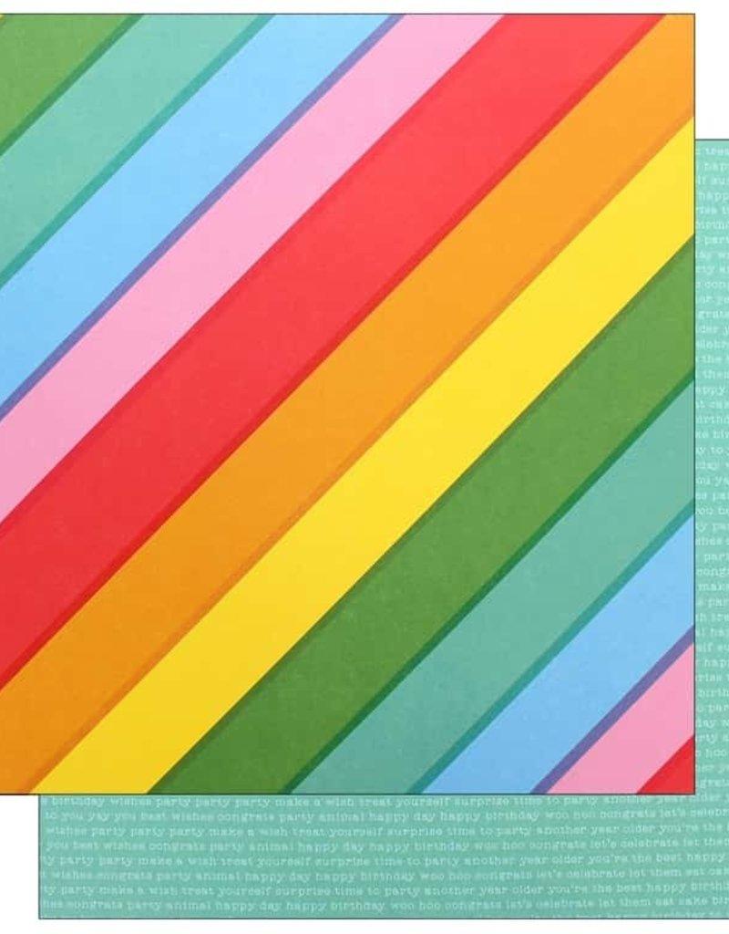 Pebbles 12 x 12  Paper Happy Hooray Rainbowtastic