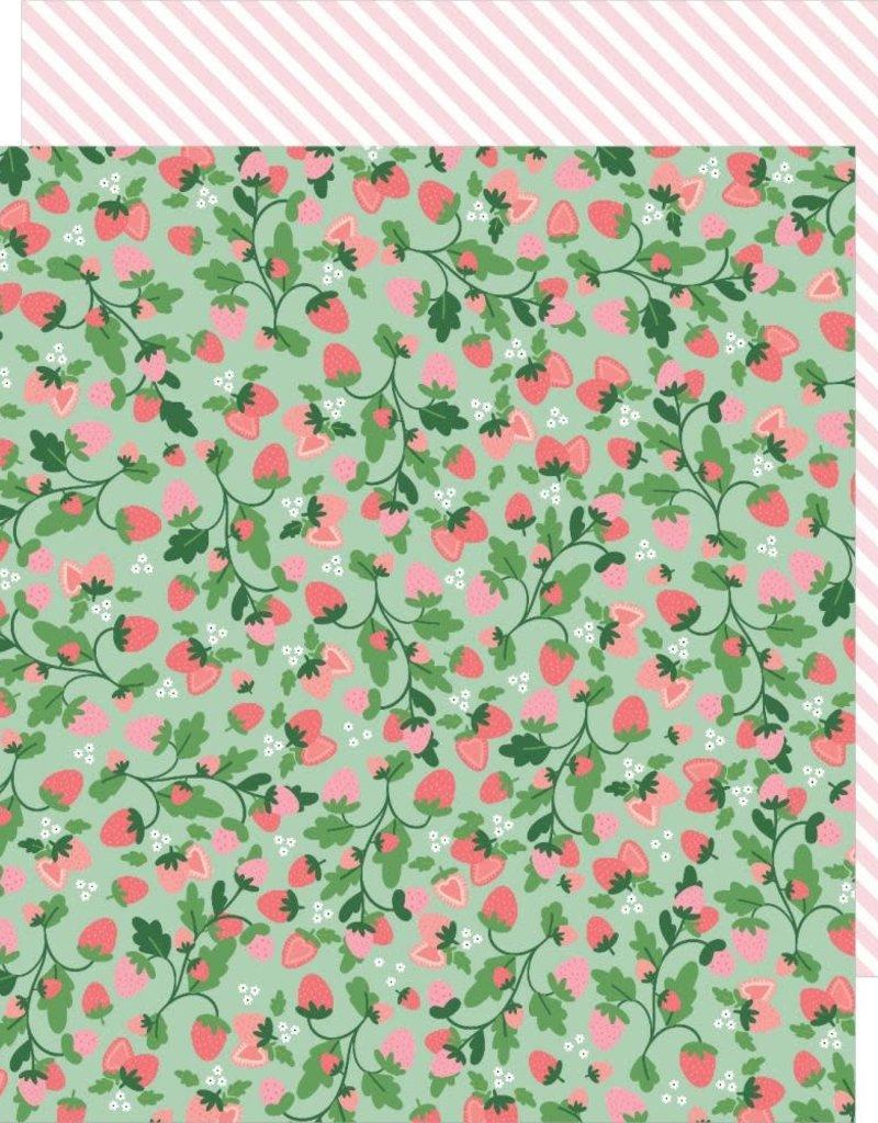 Pebbles 12 x 12 Paper Strawberry Fields
