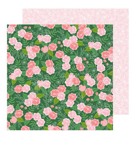 Pebbles 12 x 12 Paper Botanical Rose