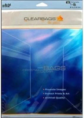 "Clear Bags Clear Bags 8"" x 11"" 25 Piece Pack"
