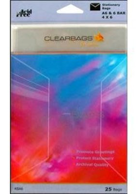 "Clear Bags Clear Bags 4"" x 6"" 25 Piece Pack"